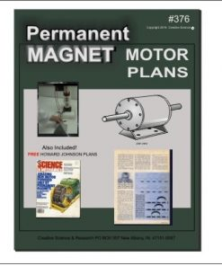 Picture of front cover of our permanent magnet motor plans