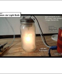Photo of a homemade mason jar light bulb