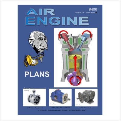 front cover of our Air Engine Plans