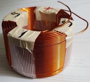 Copper coil air coil