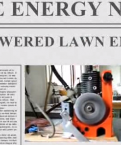 Free energy news paper heading, Air powered lawn mower engine, FuellessPower.com