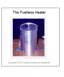 Photo of our aluminum type Fuel-less Heater, Free Energy Heating.
