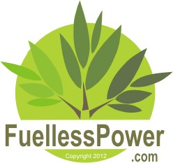 Clip art of Fuelless Power dot com green logo