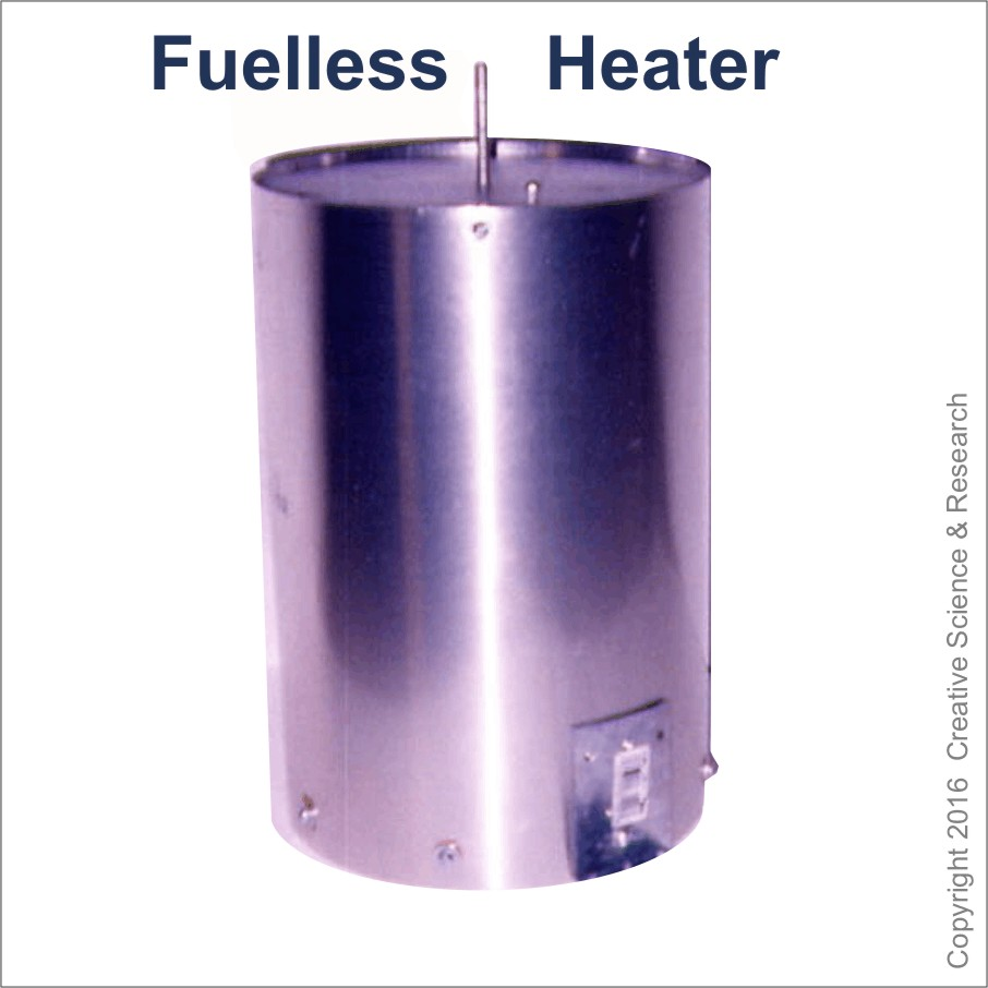 Larger photo of our Fuel-less heater invention