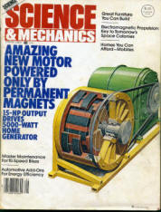 Photo of front cover of an old Science and Mechanics magazine