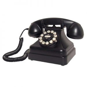 Black telephone from 1950s