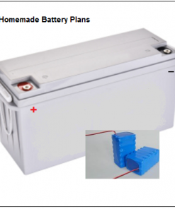 Photo clip art of Homemade Battery Plans cover