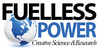 fuel less power logo with blue and white earth