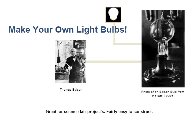 make your own light bulbs with thomas edison