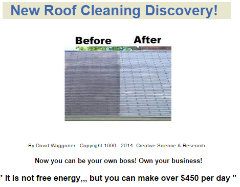New Roof Cleaning Discovery, before and after
