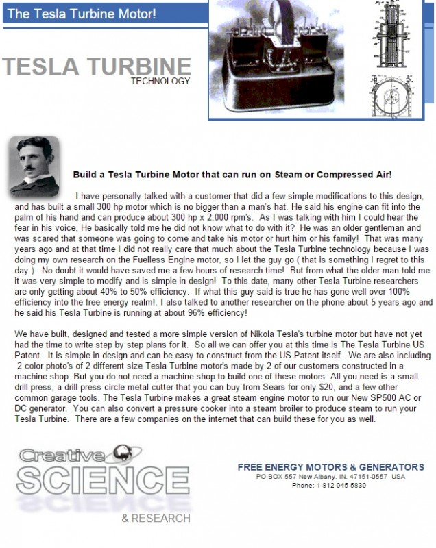 tesla turbine technology