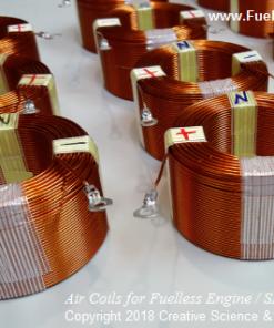 One dozen specially designed air coils for SP500 Generator, Fuel-less Engine motor