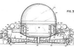 US Patent drawing of a real USA made UFO flying saucer