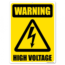 High voltage warning label for free energy devices