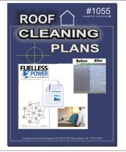 DIY Roof Cleaning Plans E-book cover order number 1055