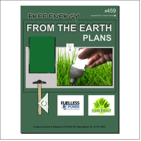 Free Energy From The Earth Plans E-book cover order number 459