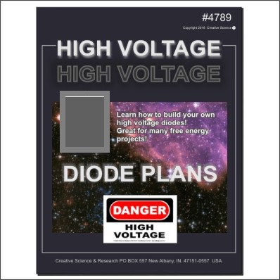 High Voltage Diode Plans E-book cover order number 4789