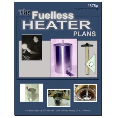The Fuelless Heater, Free Energy Heating Plans E-book cover order number 878P