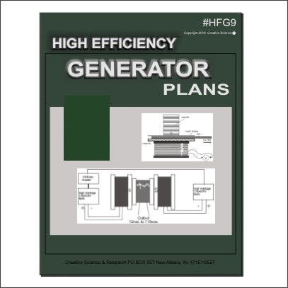 High Efficiency Generator Plans book cover order number HFG9