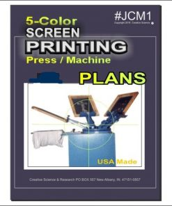 5-color Screen Printing Plans book cover order number JCM1